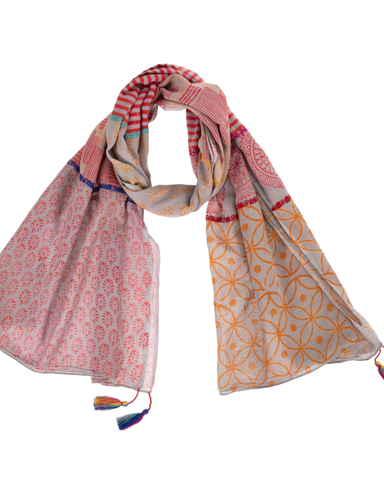 print mix scarf